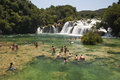 Waterfall Krka in Croatia Royalty Free Stock Photo