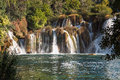 Waterfall krka national park croatia in Royalty Free Stock Image