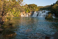 Waterfall krka national park croatia in Stock Photo