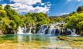 Waterfall In Krka National Park -Dalmatia, Croatia Royalty Free Stock Photo