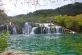 Waterfall on Krka river Stock Photo