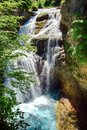 Waterfall of La Cueva in Ordesa National Park in Aragon, Spain. Royalty Free Stock Photo