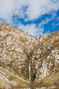 Waterfall at Lago del Matese Stock Photos