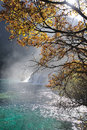 Waterfall  and lake in Jiuzhaigou Royalty Free Stock Photos