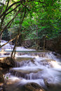 Waterfall landscape in deep forest Royalty Free Stock Photography