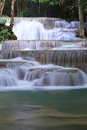 Waterfall landscape in deep forest Stock Photos