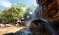 Waterfall Landscape Panorama