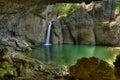 Vodopád dívčí skok v kaňon