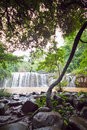 Waterfall mak mew falls at champasak southern laos Stock Photos