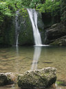 Waterfall in Malhamdale,Janets Foss Royalty Free Stock Image