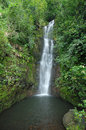 Waterfall maui hawaii and pond in Stock Image