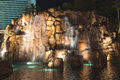 Waterfall at the mirage hotel in las vegas nevada usa october and casino is a roomt casino has Royalty Free Stock Images