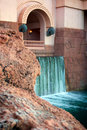 Waterfall on modern building Royalty Free Stock Photo