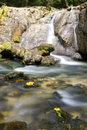 Waterfall and mountain river Stock Images