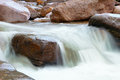 Waterfall in a mountain stream Stock Photography
