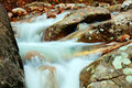 Waterfall in a mountain stream Royalty Free Stock Photos