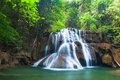 Waterfall in national park kanchanaburi province thailand Stock Photos