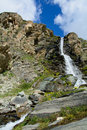 Waterfall natural in the upper valley of the matterhorn Stock Photos