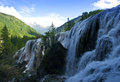 Waterfall nature at china jiuzhaigou Stock Photography
