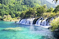 Waterfall nature at china jiuzhaigou Royalty Free Stock Photos