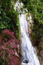 Waterfall near tomok village samosir island lake toba north sumatra indonesia Royalty Free Stock Photo