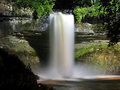 Waterfall at night beautiful minnehaha falls in minnesota captured with slow shutters speed Stock Photography