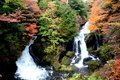 Waterfall in nikko two authumn Royalty Free Stock Photo