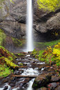 Waterfall In Oregon Autumn