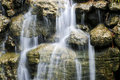 Waterfall over stones Royalty Free Stock Photo