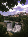Waterfall in place jajce bosnia and herzegovina Stock Images