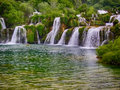 Waterfall in plitvice lake croatia Stock Photo