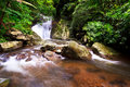 Waterfall in rain forest Royalty Free Stock Photo