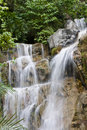 Waterfall in Rainforest Stock Image