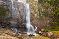 Waterfall in ramboda village near nuwara eliya in sri lanka Stock Image
