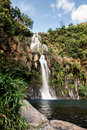Waterfall reunion island beautiful waterfalls in Stock Photography