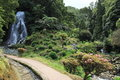 Waterfall at Ribeira dos Caldeirões Natural Park Royalty Free Stock Photography