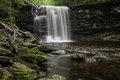Waterfall in ricketts glen state park pennsylvania is a on acres columbia luzerne and sullivan counties the Royalty Free Stock Image
