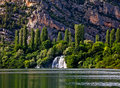Waterfall on river Krka Royalty Free Stock Images