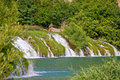 Waterfall on river of Krupa Royalty Free Stock Photography
