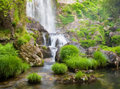 Waterfall And River In Nature