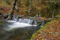 Waterfall river in the portuguese national park of geres in the north of the country Royalty Free Stock Image