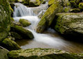 Waterfall and Rocks silk effect Royalty Free Stock Photo