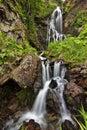 The Waterfall Among The Rocks