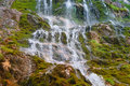 Waterfall in rocky mountains caucasus Royalty Free Stock Photography