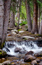 Waterfall and Rocky river bed Royalty Free Stock Photo