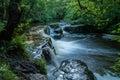Waterfall scene slow water Royalty Free Stock Photo