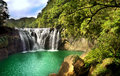 Waterfall scenery beautiful in shifen taiwan Stock Photo