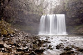 The Waterfall Sgwd yr Eira in Wales. Royalty Free Stock Photo