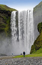 Waterfall Skogafoss Royalty Free Stock Photo