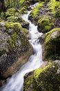 Waterfall smal in austria wideangle Royalty Free Stock Photo